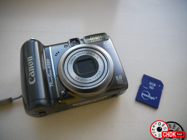 Canon A590 + SDCard with CHDK