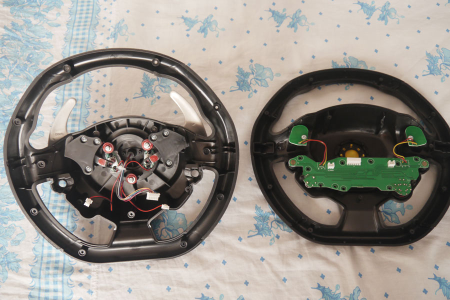 Hacking a Thrustmaster TX RW gaming wheel with Arduino Uno