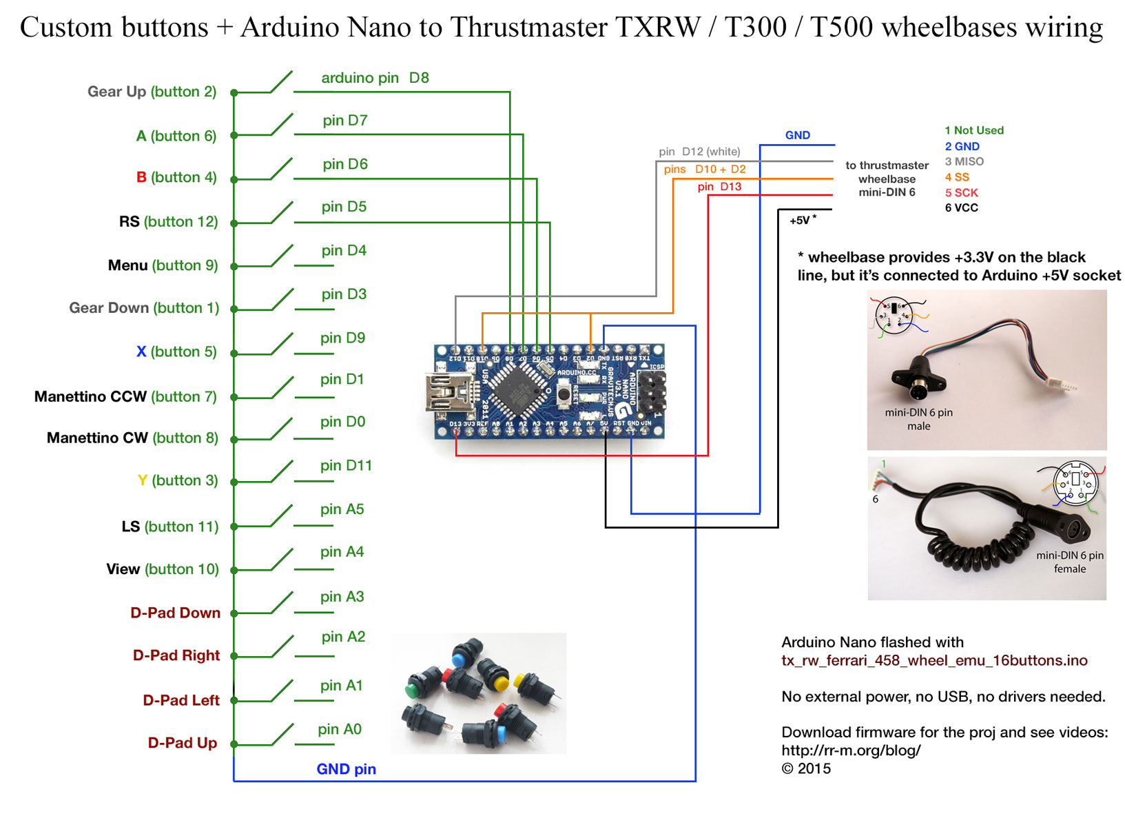 Arduino Nano Controlled Buttons For Thrustmaster