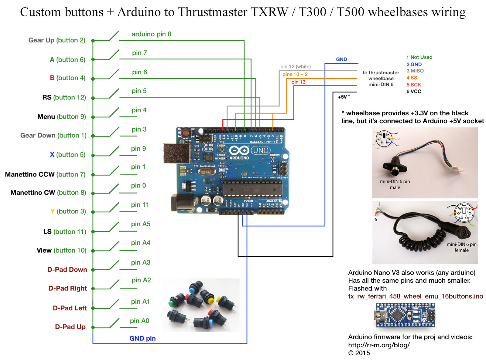 t300 wiring diagram jeep cj7 heater wiring diagram ge refrigerator arduino nano controlled buttons for thrustmaster wheelbases part arduino to thrustmaster wheelbase wiring 1600x1200 arduino nano