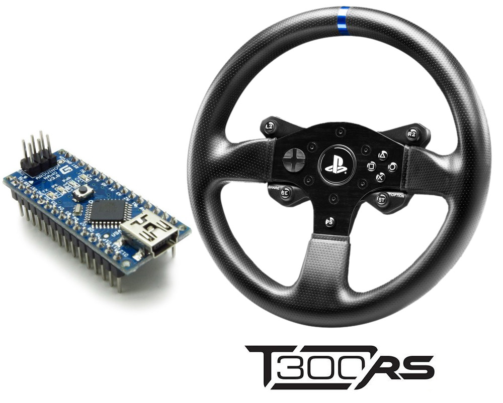 Emulating T300 PS rim with Arduino